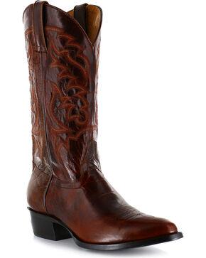 Moonshine Spirit Men's Narrow Round Toe Western Boots , Dark Brown, hi-res