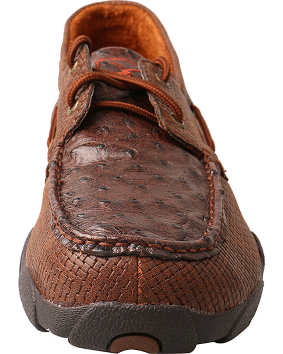Twisted X Men's Brown Textured Driving Moc - Moc Toe , Brown, hi-res