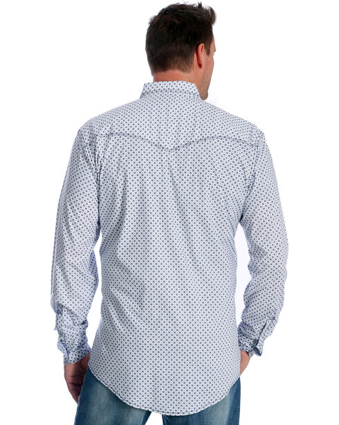 Wrangler Men's Navy Print 20X Advanced Comfort Competition Shirt , Navy, hi-res