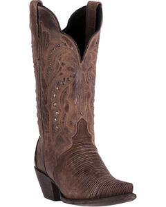 Dan Post Women's Talisman Teju Lizard Cowboy Boots - Snip Toe, , hi-res