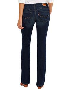 Levi's Women's 524 Low Rise Boot Cut Jeans, Blue, hi-res
