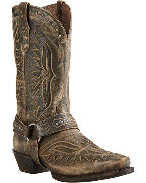 Ariat Iron Cowboy Brooklyn Brown Cowboy Boots - Square Toe, Brown, hi-res