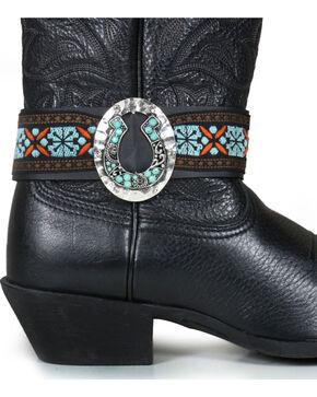 Shyanne Women's Horseshoe Boot Wraps , Black, hi-res