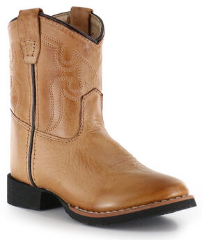 Cody James Toddler Showdown Western Boots - Round Toe, Tan, hi-res