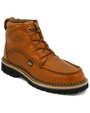 Justin Men's Dugan Casual Lace-Up Boots , Copper, hi-res