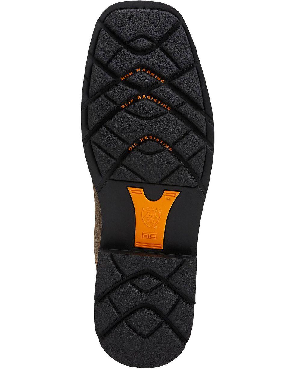 Ariat Sierra Pull-On Work Boots - Steel Toe, Earth, hi-res
