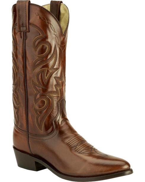 Dan Post Mignon Leather Cowboy Boots - Medium Toe, Tan, hi-res