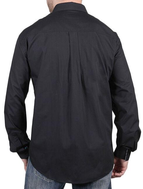 Cody James Core Men's Chute Black Long Sleeve Shirt, Black, hi-res