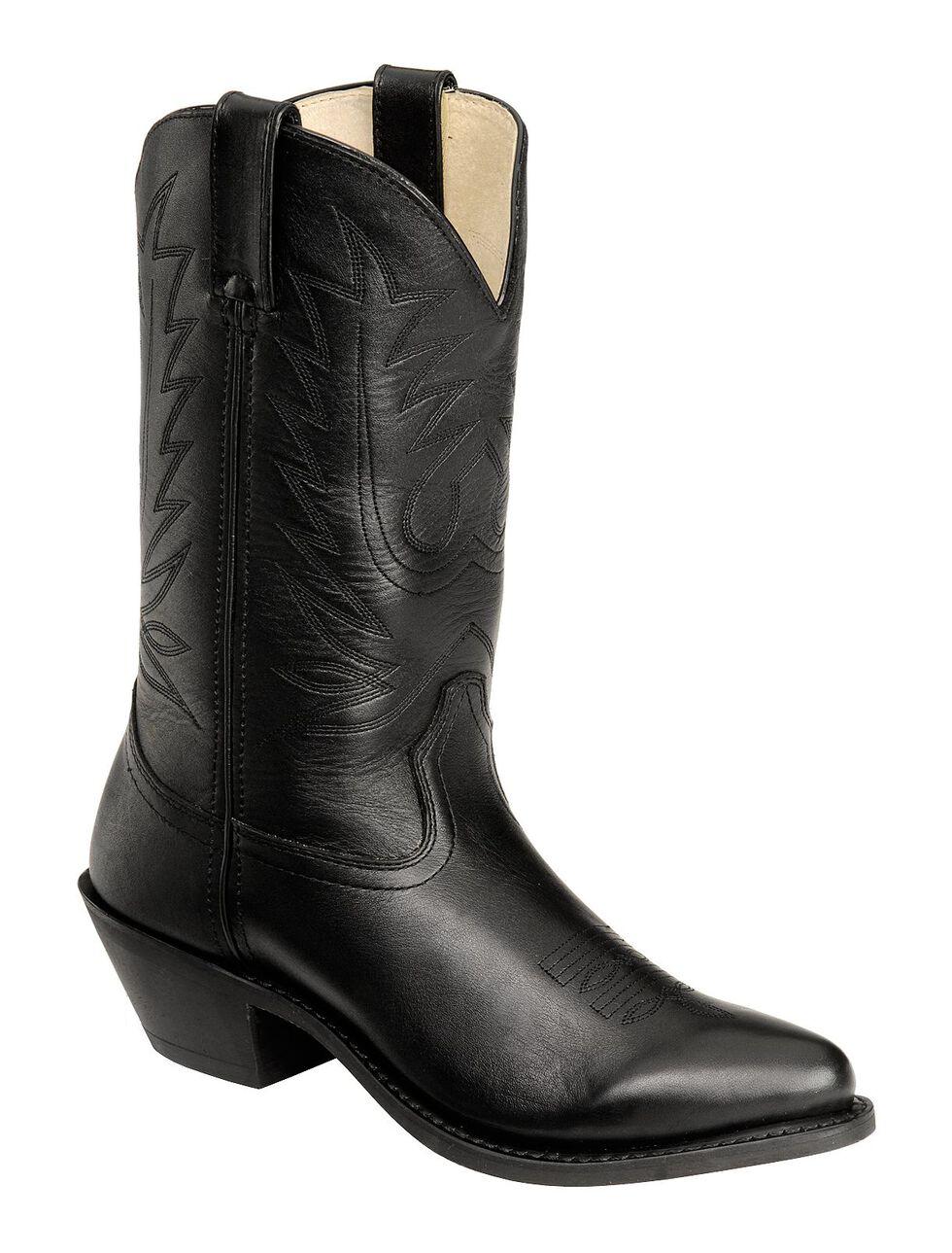 Durango Black Western Cowgirl Boots - Round Toe, Black, hi-res