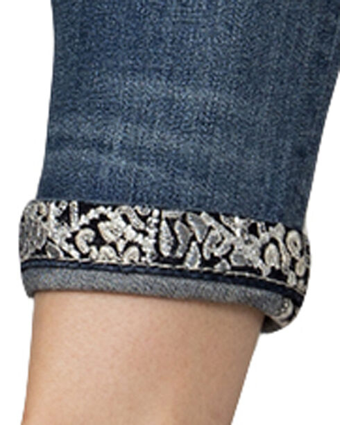 Miss Me Women's Indigo Wing Embroidered Jeans - Ankle Skinny, Indigo, hi-res
