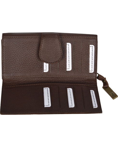 STS Ranchwear Chocolate Cassie Joh Trifold Wallet , Chocolate, hi-res