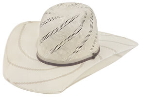 Justin Bent Rail Tornado Straw Cowboy Hat , Ivory, hi-res