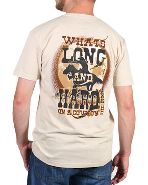 Cowboy Up Men's Back Graphic Tee, Tan, hi-res