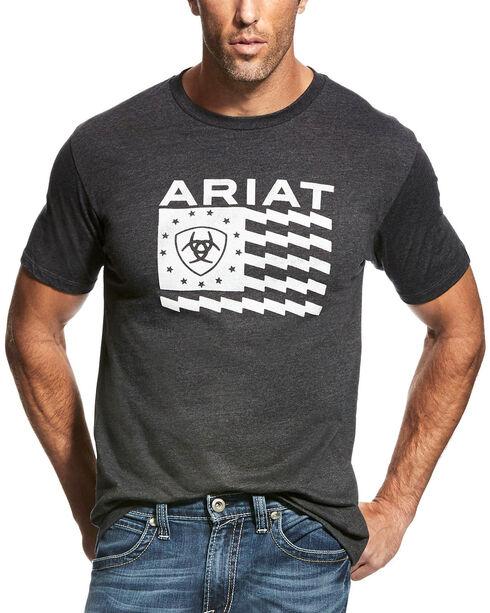 Ariat Men's Charcoal Old Glory T-Shirt , Charcoal, hi-res