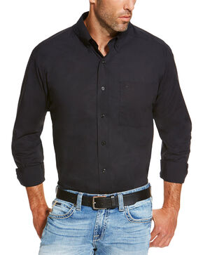 Ariat Men's Black Alden Shirt, Black, hi-res