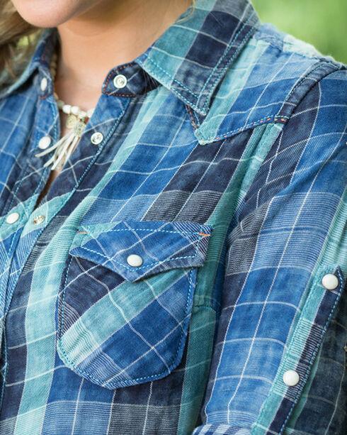 Ryan Michael Indigo Lake Travis Plaid Dress, Indigo, hi-res