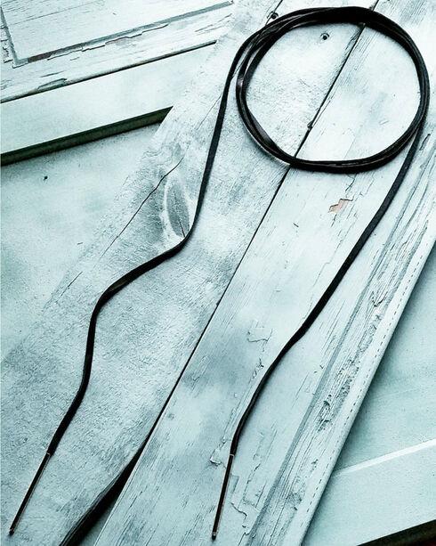 Jewelry Junkie Women's Black Boho Leather Lariat Necklace , Black, hi-res