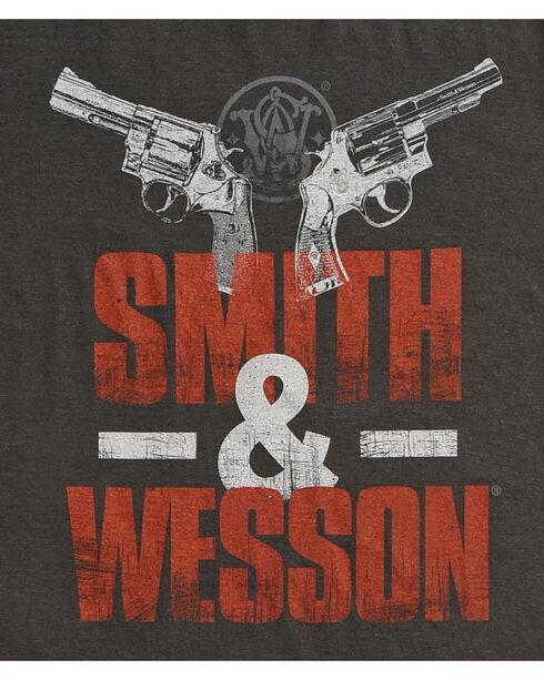 Smith & Wesson Men's Two Guns Premium Tee, Black, hi-res