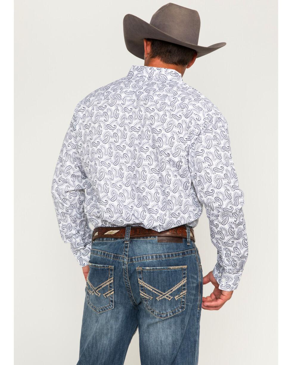 Cody James Men's Paisley Print Long Sleeve Shirt, White, hi-res