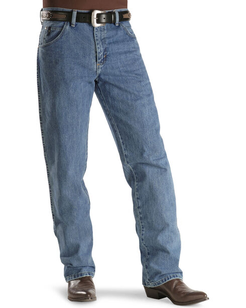 "Wrangler 20X Jeans - No. 23 Relaxed Fit - 38"" Tall Inseam, Antique Blue, hi-res"