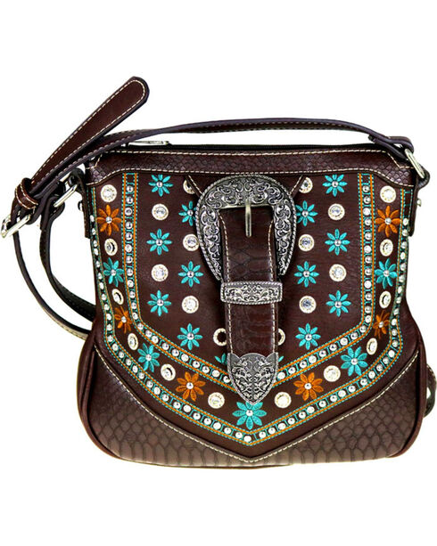 Montana West Women's Floral Crossbody Purse , , hi-res