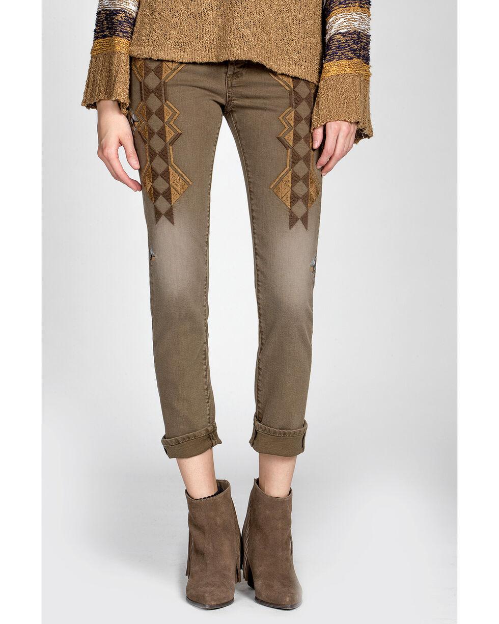 MM Vintage Women's Molly Boyfriend Jeans , Brown, hi-res