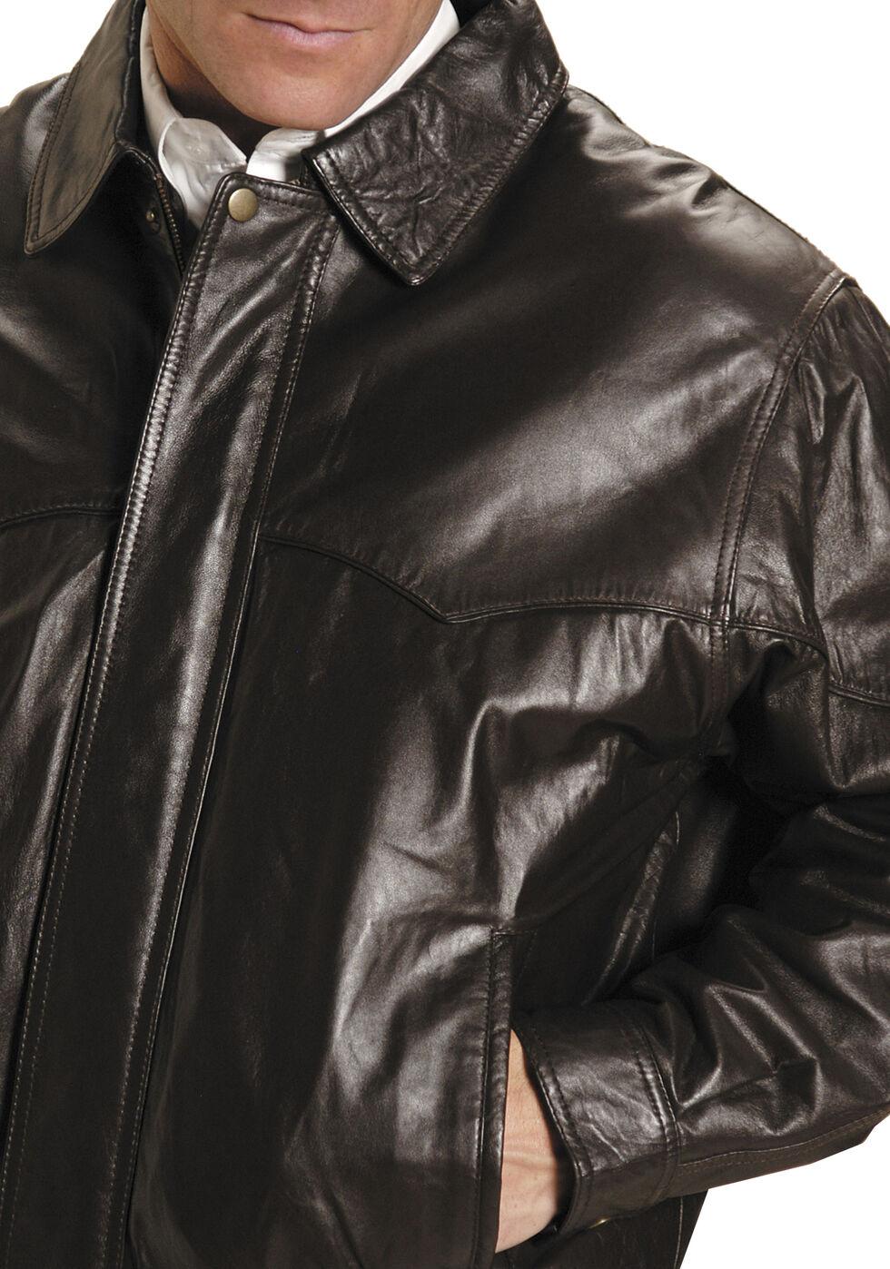 Roper Lamb Nappa Bomber Jacket - Big and Tall, Brown, hi-res