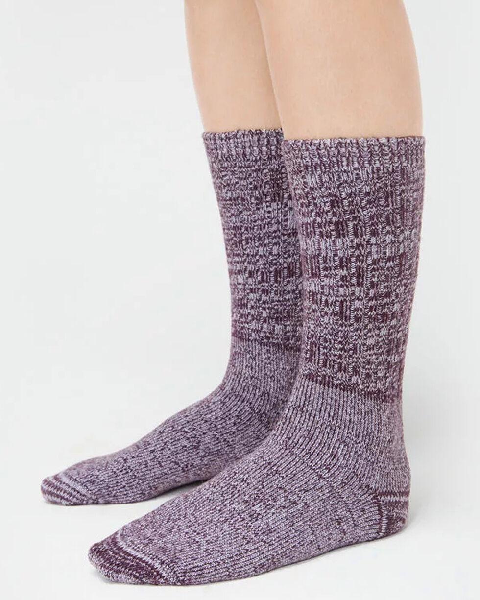 UGG Women's Port Rib Knit Slouch Socks , Wine, hi-res