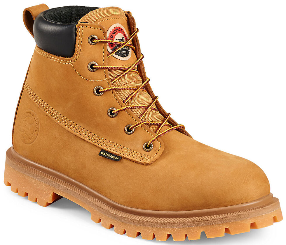 """Irish Setter by Red Wing Shoes Men's Hopkins Insulated Waterproof 6"""" Work Boots - Aluminum Toe , Wheat, hi-res"""