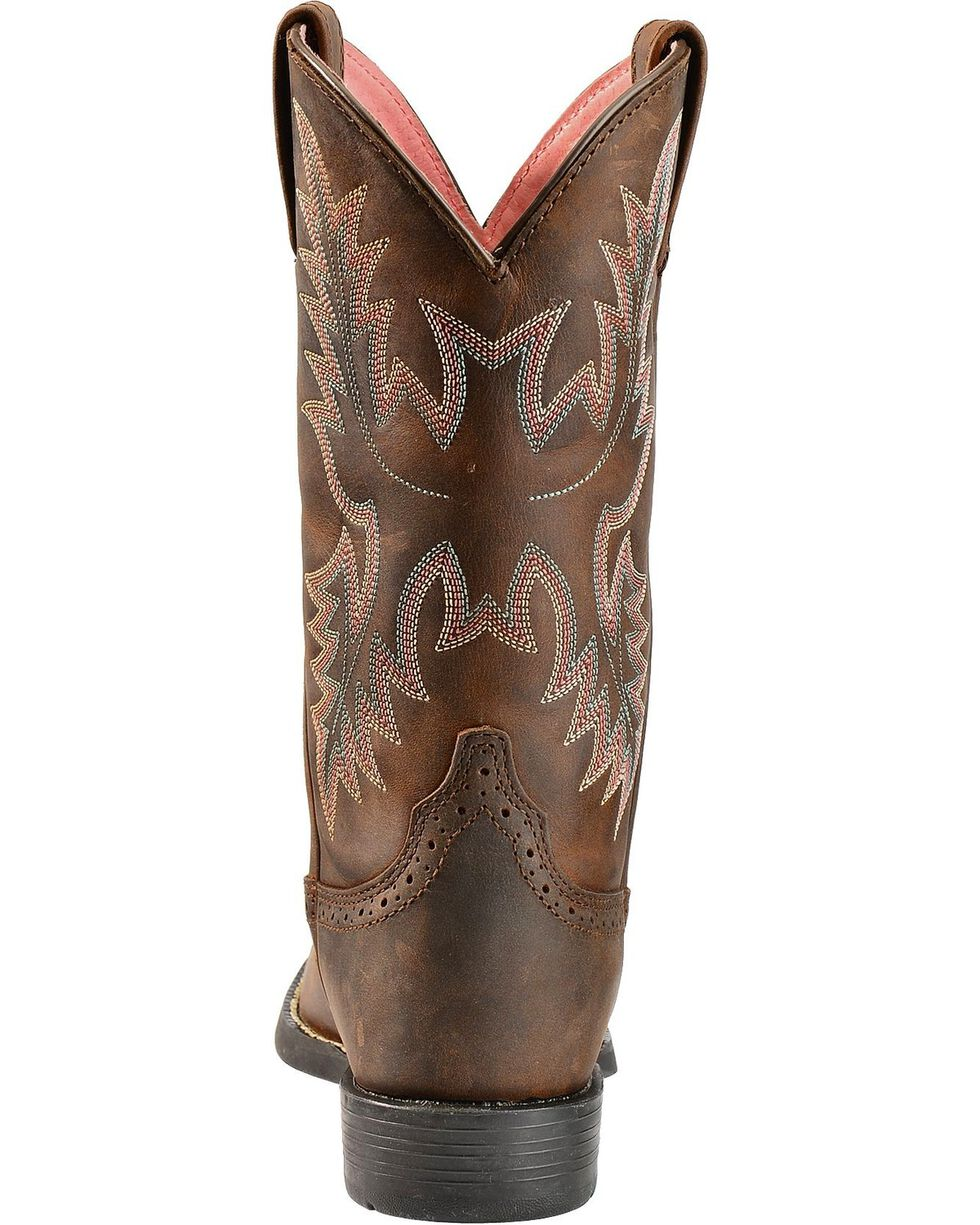 Ariat Heritage Stockman Saddle Vamp Cowgirl Boots - Round Toe, Driftwood, hi-res