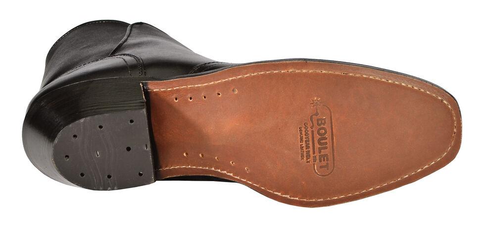 Boulet Side Zip Ankle Boots - Round Toe, Black, hi-res