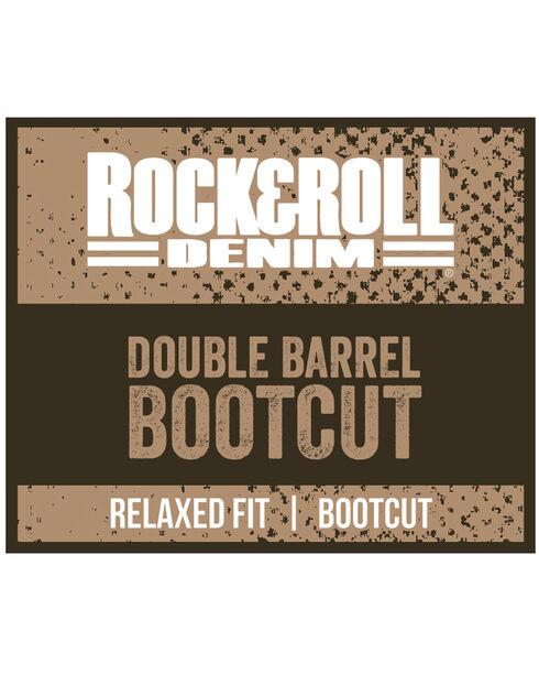 """Rock & Roll Cowboy Men's Indigo Double Barrel """"A"""" Embroidery Jeans - Boot Cut, Indigo, hi-res"""