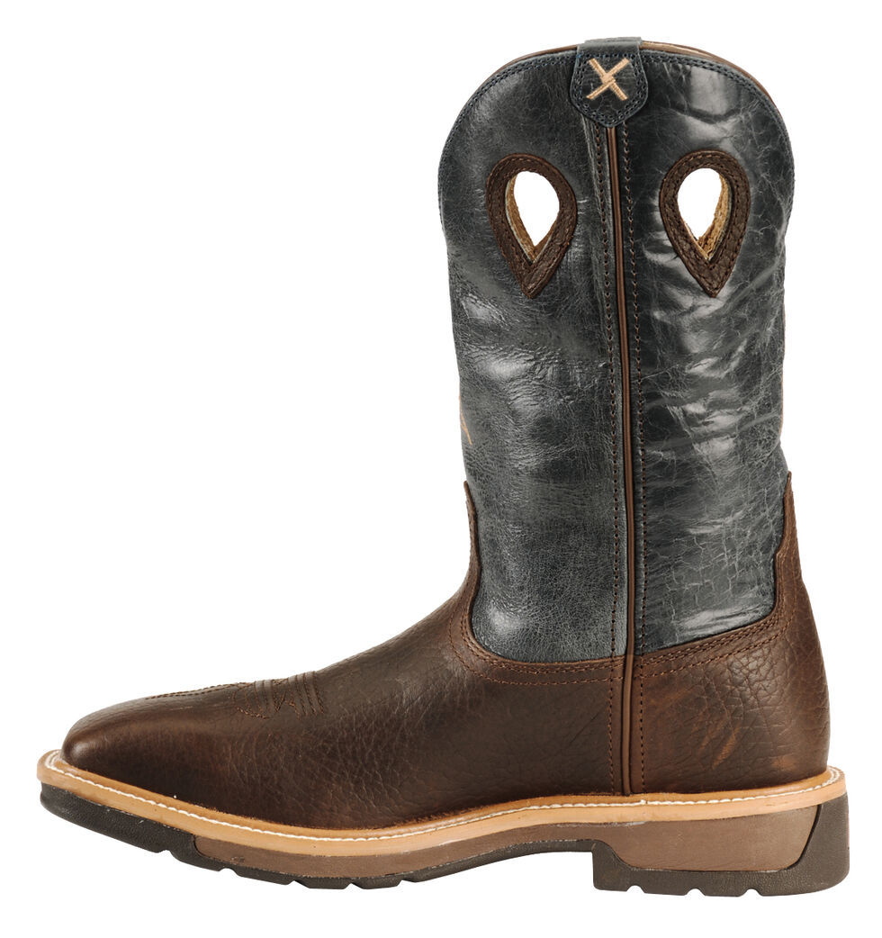 Twisted X Pull-On Cowboy Work Boots - Steel Toe, Cognac, hi-res