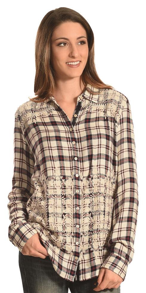 Johnny Was 3J Workshop Women's Lizette Button Back Shirt , Multi, hi-res