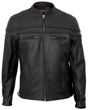 Interstate Leather Scooter Jacket - Big & Tall, Black, hi-res
