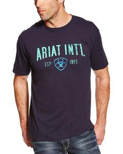 Ariat Men's Graphic Short Sleeve T-Shirt, Navy, hi-res