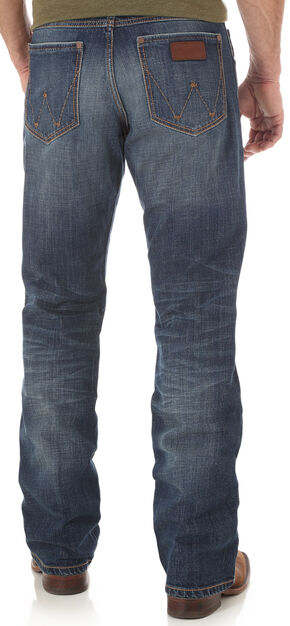 Wrangler Retro Men's Indigo Relaxed Fit Jeans - Boot Cut , Indigo, hi-res