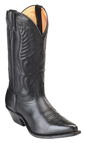 Boulet Cowboy Boots - Pointed Toe, Black, hi-res