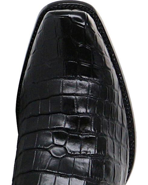 El Dorado Men's Black Alligator Belly Exotic Boots - Narrow Square Toe, Black, hi-res