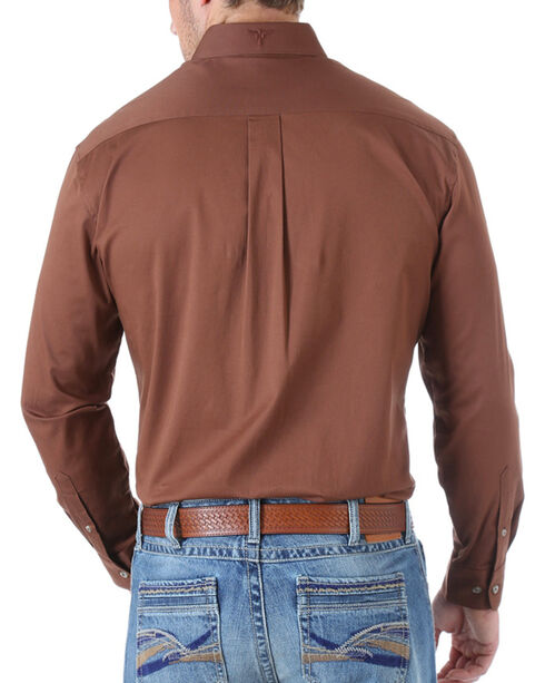 Wrangler 20X Advanced Comfort Solid Long Sleeve Shirt, Brown, hi-res