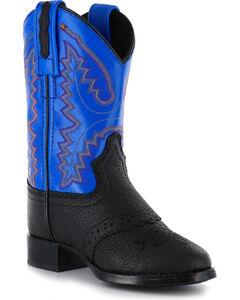 Cody James® Kid's Saddle Vamp Western Boots, Black, hi-res