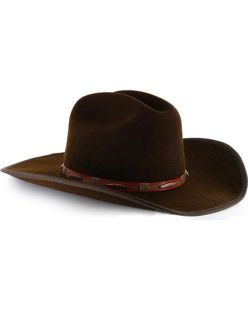 Cody James® Men's Western Wool Hat, Chocolate, hi-res