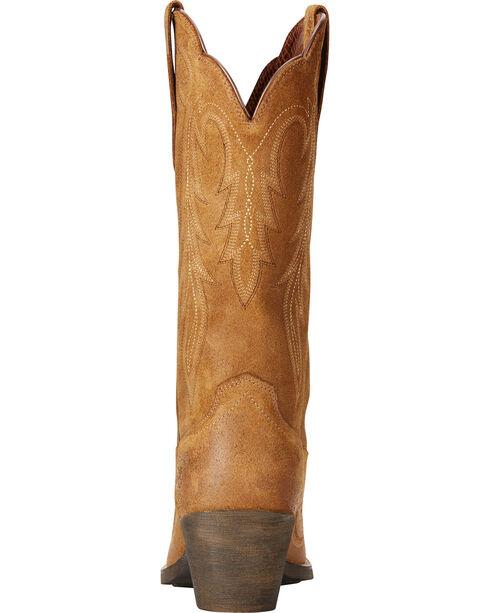 Ariat Women's Tan Round Up Renegade Western Boots - Snip Toe , Tan, hi-res