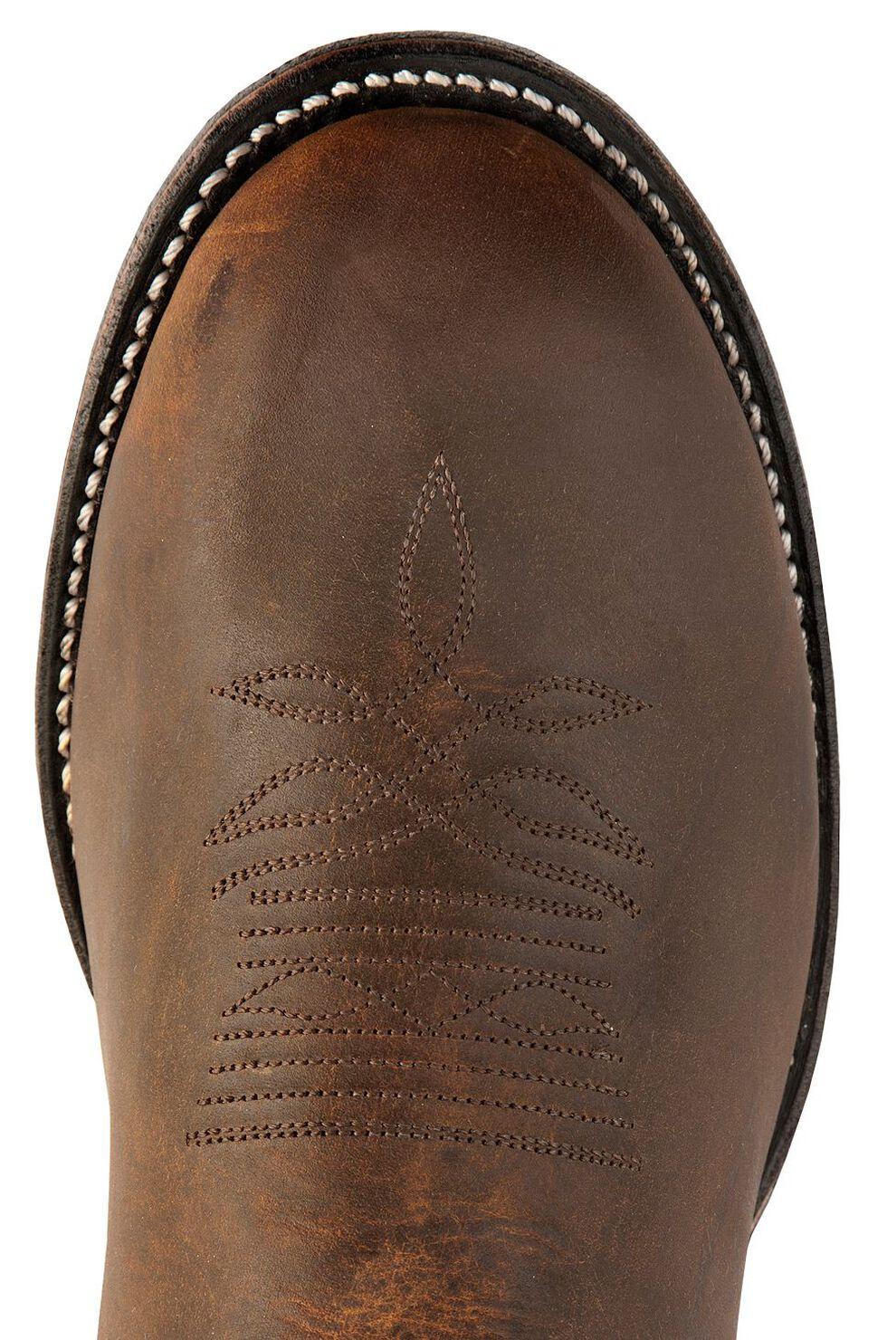 Boulet Super Roper Walnut Boots - Round Toe, Tan, hi-res