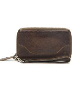 Frye Women's Melissa Zip Phone Wallet , Slate, hi-res