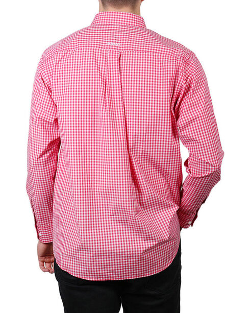 Ariat Men's Rose Red Newbury Long Sleeve Plaid Shirt , Red, hi-res