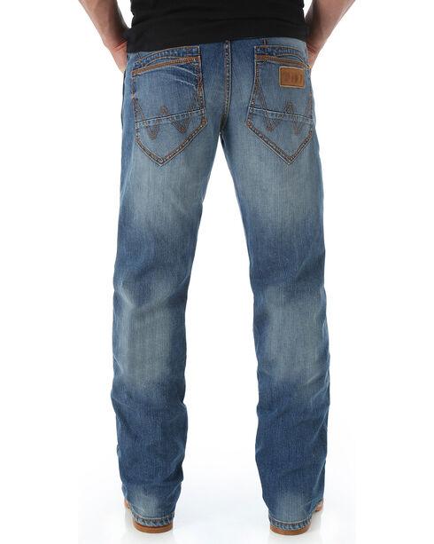 Wrangler Retro Men's Slim Fit Boot Cut Jeans - Long, Blue, hi-res