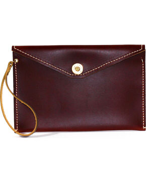 SouthLife Supply Women's Paxton Brick Envelope Clutch, Mahogany, hi-res