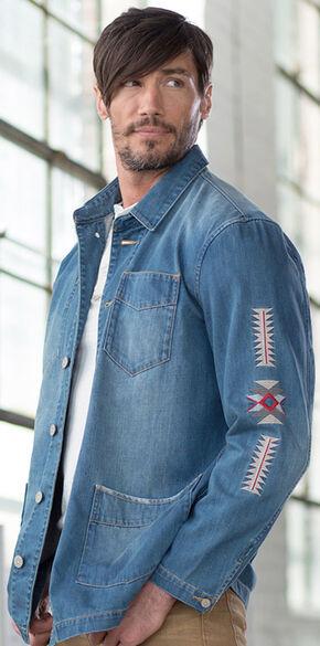 Ryan Michael Men's Denim Embroidered Jacket, Indigo, hi-res