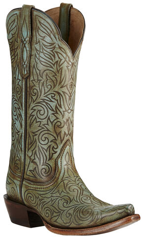 Ariat Women's Turquoise Sterling Boots - Snip Toe, Turquoise, hi-res